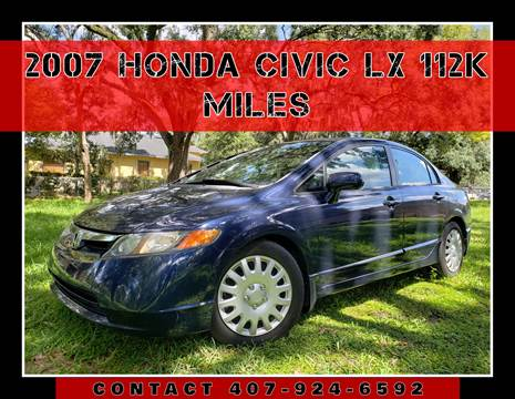 2007 Honda Civic for sale at AFFORDABLE ONE LLC in Orlando FL