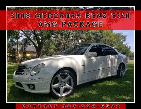 2008 Mercedes-Benz E-Class for sale at AFFORDABLE ONE LLC in Orlando FL