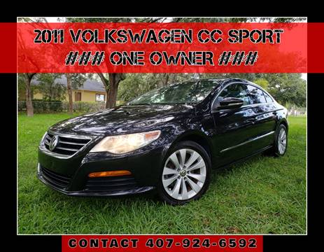 2011 Volkswagen CC for sale at AFFORDABLE ONE LLC in Orlando FL