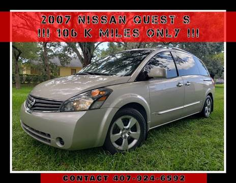 2007 Nissan Quest for sale at AFFORDABLE ONE LLC in Orlando FL