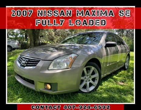 2007 Nissan Maxima for sale at AFFORDABLE ONE LLC in Orlando FL
