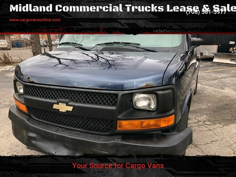 2008 Chevrolet Express Cargo for sale at Midland Commercial. Chicago Cargo Vans & Truck in Bridgeview IL