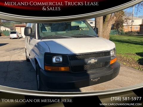 2004 Chevrolet Express Cargo for sale at Midland Commercial. Chicago Cargo Vans & Truck in Bridgeview IL
