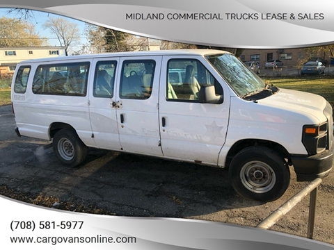 2012 Ford E-Series Wagon for sale at Midland Commercial. Chicago Cargo Vans & Truck in Bridgeview IL