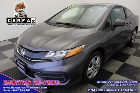 2015 Honda Civic for sale in Hampstead, MD