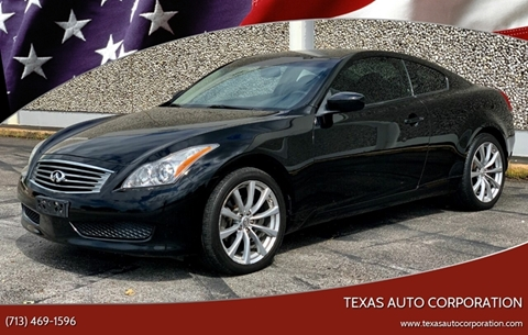 G37 Coupe For Sale >> Infiniti G37 Coupe For Sale In Houston Tx Texas Auto Corporation
