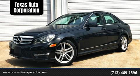 2012 Mercedes-Benz C-Class for sale at Texas Auto Corporation in Houston TX