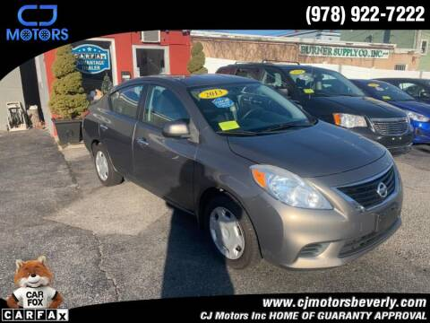 2013 Nissan Versa for sale at CJ Motors Inc. in Beverly MA