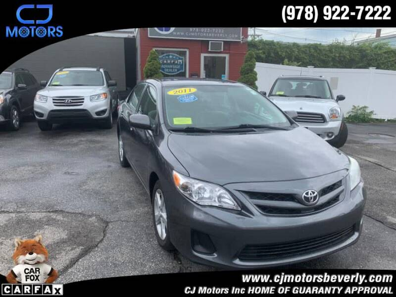 2011 Toyota Corolla for sale at CJ Motors Inc. in Beverly MA