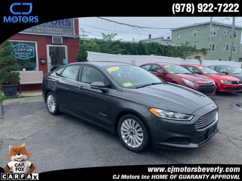 2016 Ford Fusion Hybrid for sale at CJ Motors Inc. in Beverly MA