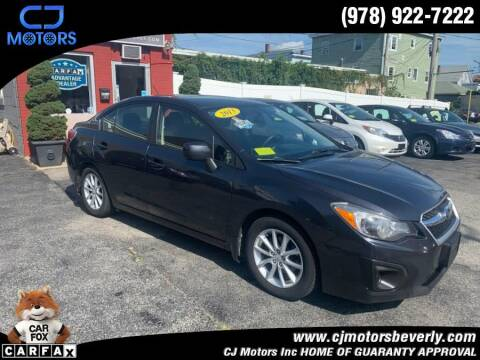 2013 Subaru Impreza for sale at CJ Motors Inc. in Beverly MA