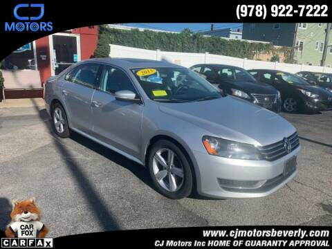 2013 Volkswagen Passat for sale at CJ Motors Inc. in Beverly MA