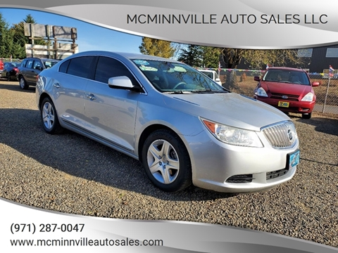 2011 Buick LaCrosse for sale at McMinnville Auto Sales LLC in Mcminnville OR