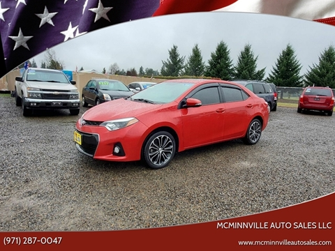 2015 Toyota Corolla for sale at McMinnville Auto Sales LLC in Mcminnville OR