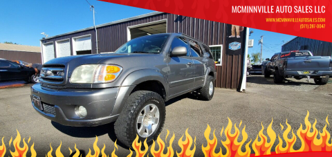2003 Toyota Sequoia for sale at McMinnville Auto Sales LLC in Mcminnville OR