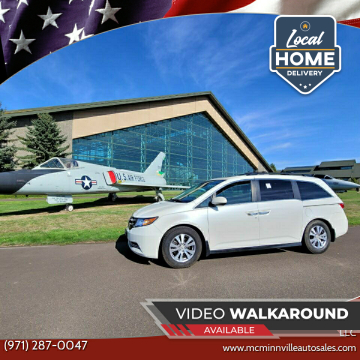 2014 Honda Odyssey for sale at McMinnville Auto Sales LLC in Mcminnville OR