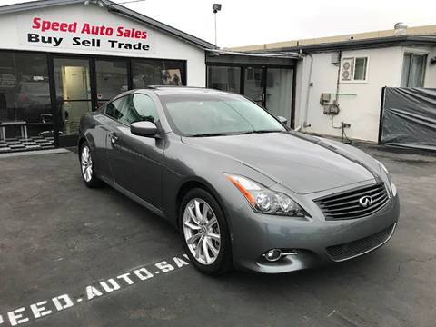 2011 Infiniti G37 Coupe for sale at Speed Auto Sales in El Cajon CA