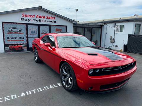 2015 Dodge Challenger for sale at Speed Auto Sales in El Cajon CA