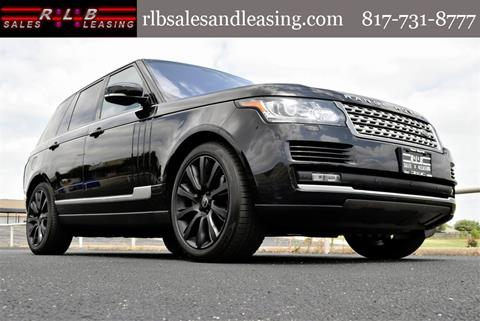 Land Rover Fort Worth >> 2016 Land Rover Range Rover For Sale In Fort Worth Tx