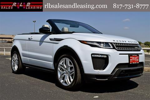2018 Land Rover Range Rover Evoque Convertible for sale in Fort Worth, TX