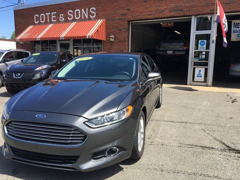 2015 Ford Fusion for sale at Cote & Sons Automotive Ctr in Lawrence MA