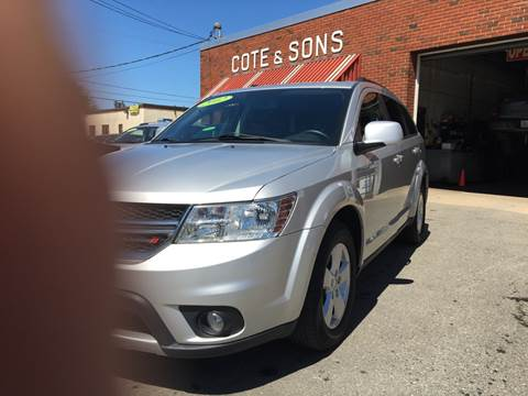 2012 Dodge Journey for sale at Cote & Sons Automotive Ctr in Lawrence MA