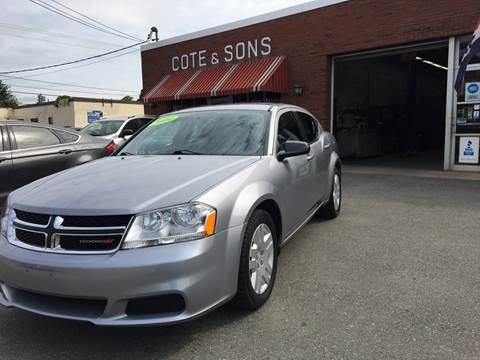 2014 Dodge Avenger for sale at Cote & Sons Automotive Ctr in Lawrence MA