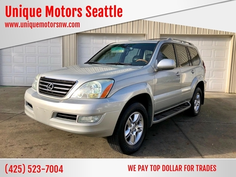2004 Lexus GX 470 for sale at Unique Motors Seattle in Bellevue WA