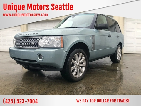 2008 Land Rover Range Rover for sale at Unique Motors Seattle in Bellevue WA