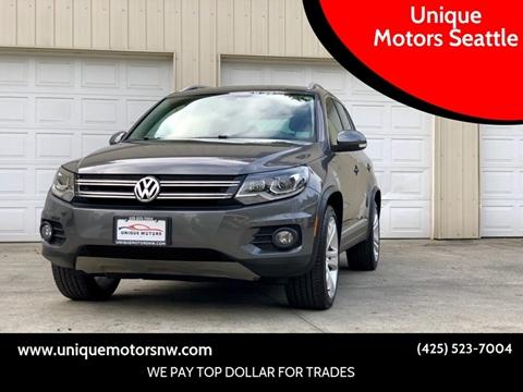 2012 Volkswagen Tiguan for sale at Unique Motors Seattle in Bellevue WA