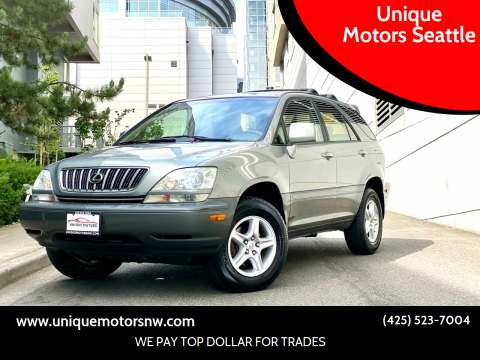 2002 Lexus RX 300 for sale at Unique Motors Seattle in Bellevue WA