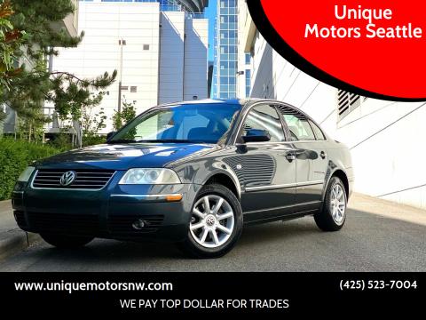 2004 Volkswagen Passat for sale at Unique Motors Seattle in Bellevue WA