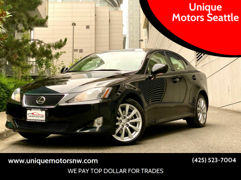 2007 Lexus IS 250 for sale at Unique Motors Seattle in Bellevue WA