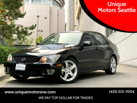 2004 Lexus IS 300 for sale at Unique Motors Seattle in Bellevue WA