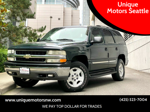 2004 Chevrolet Tahoe for sale at Unique Motors Seattle in Bellevue WA