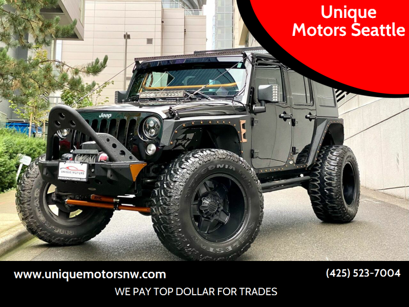 2016 Jeep Wrangler Unlimited for sale at Unique Motors Seattle in Bellevue WA