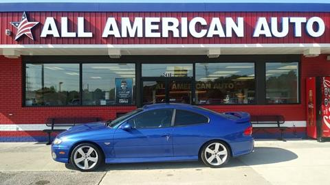 Used 2006 Pontiac Gto For Sale In North Carolina