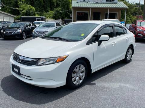 2012 Honda Civic for sale at Luxury Auto Innovations in Flowery Branch GA