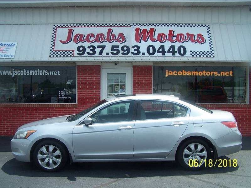 2008 Honda Accord For Sale At Jacobs Motors In Bellefontaine OH