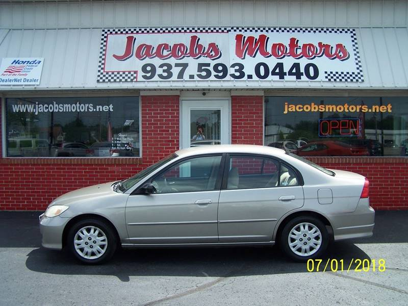 2005 Honda Civic For Sale At Jacobs Motors In Bellefontaine OH