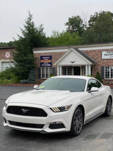 2017 Ford Mustang for sale at Broadway Motor Sales and Auto Brokers in North Chelmsford MA