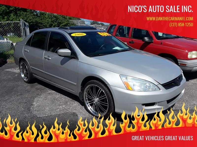 2006 Honda Accord For Sale At Nicou0027s Auto Sale Inc. In New Port Richey FL