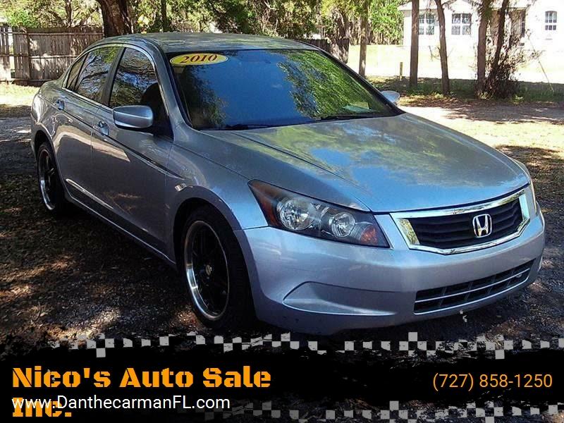 2010 Honda Accord For Sale At Nicou0027s Auto Sale Inc. In New Port Richey FL