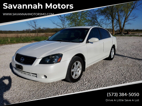 2006 Nissan Altima 2.5 S for sale at Savannah Motors in Elsberry MO