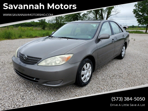 2003 Toyota Camry LE for sale at Savannah Motors in Elsberry MO