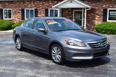 2012 Honda Accord for sale at Biron Auto Sales LLC in Hillsboro OH