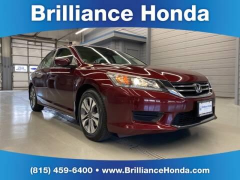 2013 Honda Accord LX for sale at BRILLIANCE HONDA in Crystal Lake IL