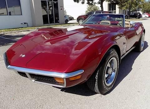 1972 Chevrolet Corvette for sale at COOL CARS in Pompano Beach FL