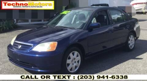 2002 Honda Civic for sale at Techno Motors in Danbury CT