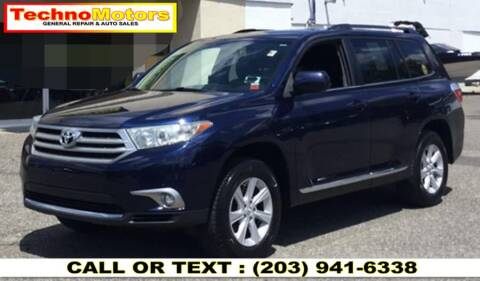 2013 Toyota Highlander for sale at Techno Motors in Danbury CT